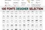 100 font chữ đẹp để thiết kế web